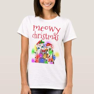 おもしろいなクリスマスの猫好きの基本的なTシャツ Tシャツ