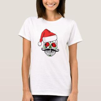 おもしろいなクリスマスの砂糖のスカル Tシャツ