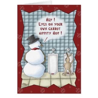 おもしろいなクリスマスカード: お願いしますプライバシー カード