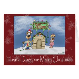 おもしろいなクリスマスカード: ちくしょうメリークリスマス カード