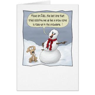 おもしろいなクリスマスカード: つま先 カード