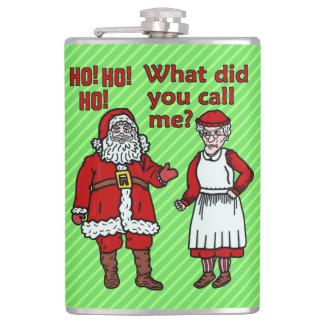 おもしろいなクリスマスサンタ及び夫人クロースHoliday Joke フラスク