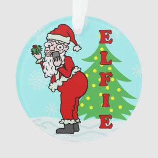 おもしろいなクリスマスサンタElfie オーナメント