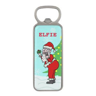 おもしろいなクリスマスサンタElfie マグネット栓抜き