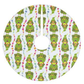 おもしろいなクリスマスツリーのプードル ブラッシュドポリエステルツリースカート
