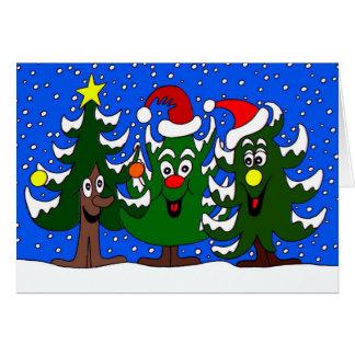 おもしろいなクリスマスツリーの漫画 カード