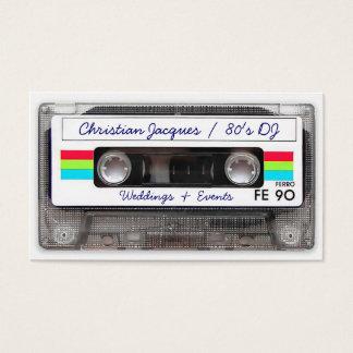 おもしろいなクールなヴィンテージ80sのレトロの音楽カセットテープ 名刺