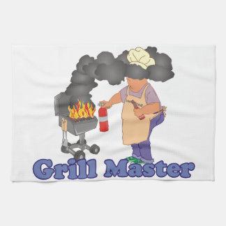 おもしろいなグリルのマスターのバーベキュー キッチンタオル