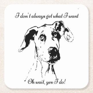 おもしろいなグレートデーンだめにされた犬のユーモアの引用文 スクエアペーパーコースター