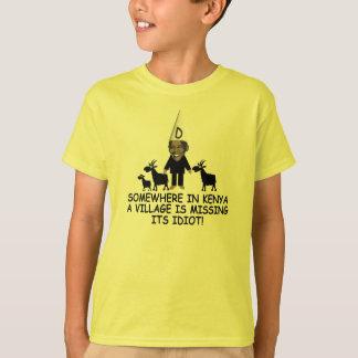 おもしろいなケニアの村の馬鹿のアンチオバマ Tシャツ