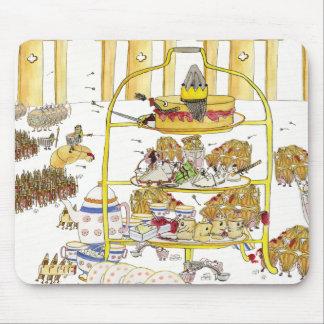 おもしろいなケーキは予測できない午後のお茶の芸術歴史の戦います マウスパッド