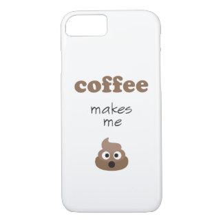 おもしろいなコーヒーは私にウンチのemoji句をします iPhone 8/7ケース
