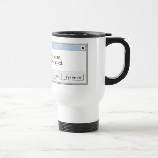 おもしろいなコーヒーエラーメッセージ-マグ ステンレス製トラベルマグカップ