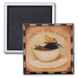 おもしろいなコーヒーカラスの漫画の磁石 マグネット
