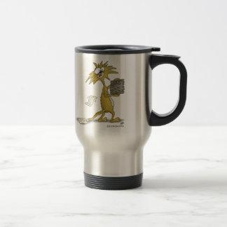 おもしろいなコーヒー・マグ: ストレスが始まるようにして下さい(猫) トラベルマグ