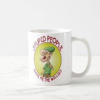 おもしろいなコーヒー・マグ: 愚かな人々 コーヒーマグカップ