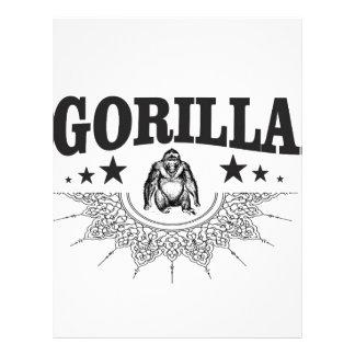 おもしろいなゴリラのラベル レターヘッド