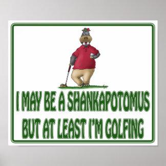 おもしろいなゴルフポスター: Shankapotomusのカバ ポスター