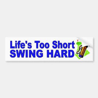 おもしろいなゴルフ車のステッカーの生命の余りに短い振動懸命 バンパーステッカー