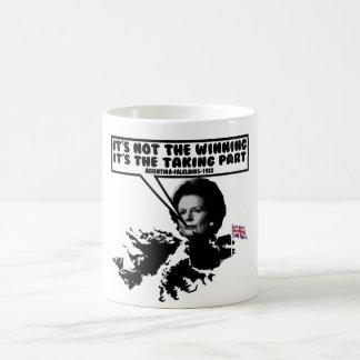 おもしろいなサッチャーフォークランド コーヒーマグカップ