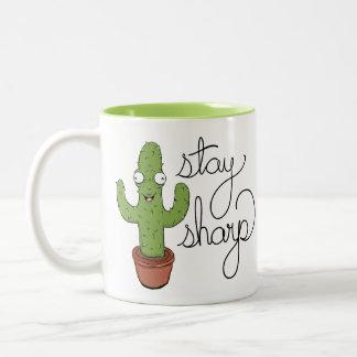 おもしろいなサボテンの滞在の鋭いコーヒー・マグ ツートーンマグカップ