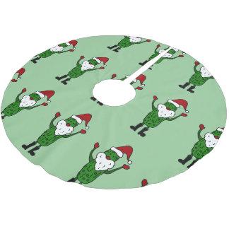 おもしろいなサンタのピクルスのクリスマスツリーのスカート ツリースカート