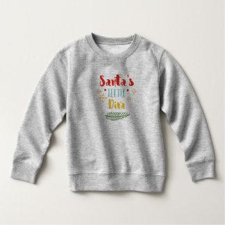 おもしろいなサンタの小さい花型女性歌手のクリスマス のスエットシャツ スウェットシャツ