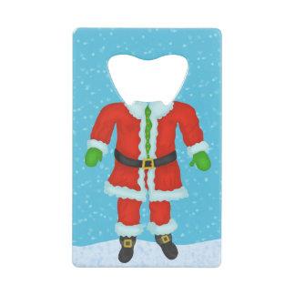 おもしろいなサンタクロースの体のノベルティのクリスマスの休日 クレジットカード栓抜き
