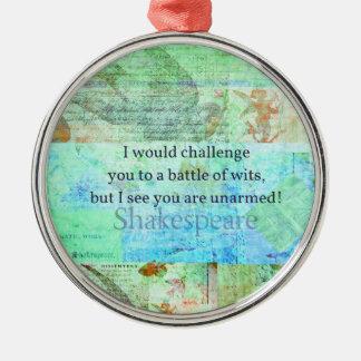 おもしろいなシェークスピアの侮辱の引用語句のエリザベス朝芸術 メタルオーナメント