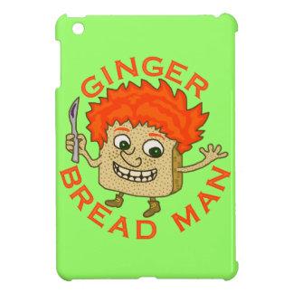 おもしろいなショウガのパンの人のクリスマスのしゃれ iPad MINIケース