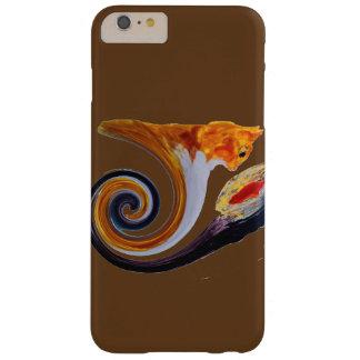 おもしろいなショウガ猫の金魚の抽象芸術のミュージカルの芸術 BARELY THERE iPhone 6 PLUS ケース