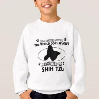 おもしろいなシーズー(犬)のtzuのデザイン スウェットシャツ