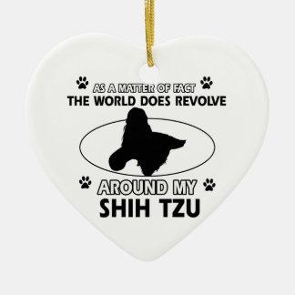 おもしろいなシーズー(犬)のtzuのデザイン セラミックオーナメント
