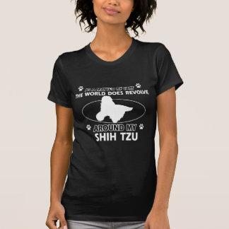 おもしろいなシーズー(犬)のtzuのデザイン tシャツ