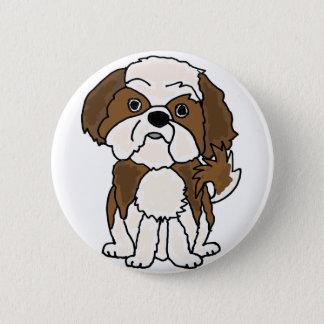 おもしろいなシーズー(犬)のTzuの小犬の漫画 缶バッジ