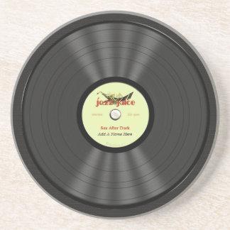おもしろいなジャズレコード コースター