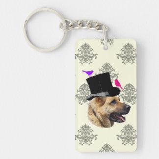 おもしろいなジャーマン・シェパード犬 キーホルダー