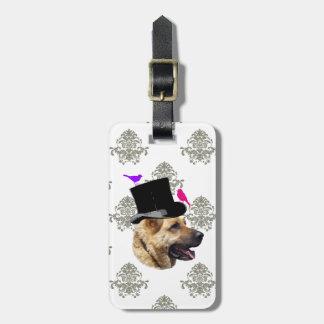 おもしろいなジャーマン・シェパード犬 ラゲッジタグ