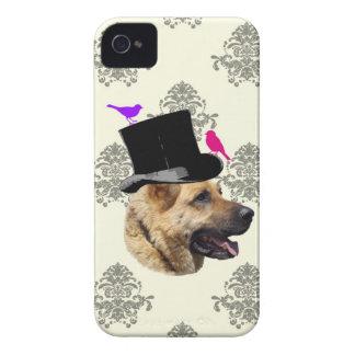 おもしろいなジャーマン・シェパード犬 Case-Mate iPhone 4 ケース