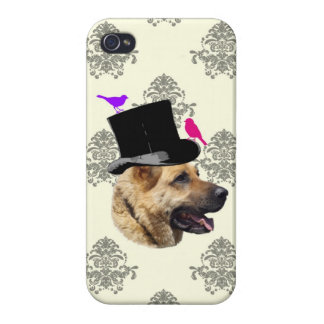 おもしろいなジャーマン・シェパード犬 iPhone 4 カバー