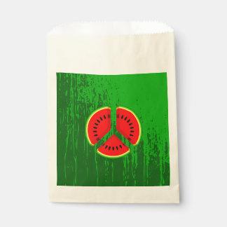 おもしろいなスイカの平和明るい色 フェイバーバッグ