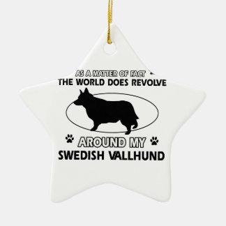 おもしろいなスウェーデンのvallhundのデザイン セラミックオーナメント