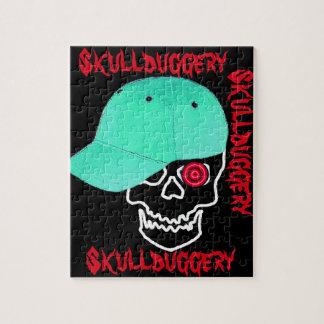 おもしろいなスカルの帽子のskullduggeryのユーモア ジグソーパズル