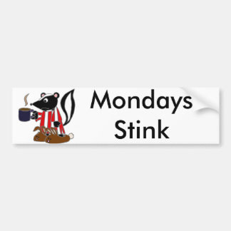 おもしろいなスカンクは月曜日を憎みます バンパーステッカー