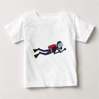 おもしろいなスキューバダイビングのダイバー、タンクおよびマスクのスキューバギア ベビーTシャツ