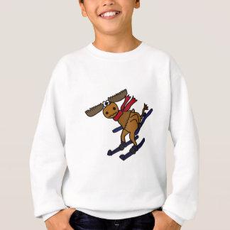 おもしろいなスキーアメリカヘラジカ スウェットシャツ