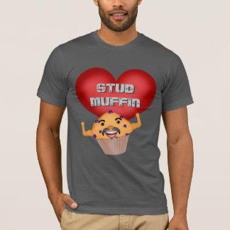 おもしろいなスタッドのマフィンのバレンタインデーのTシャツ Tシャツ