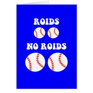 おもしろいなステロイドの野球 カード