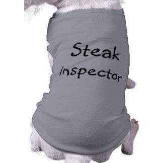 おもしろいなステーキの検査官犬のワイシャツ ペット服