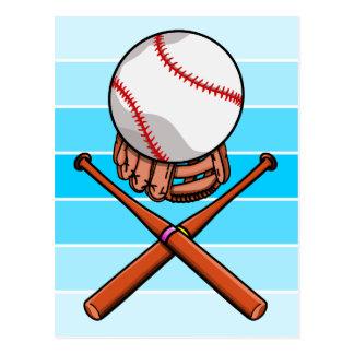 おもしろいなソフトボールまたは野球の漫画 ポストカード